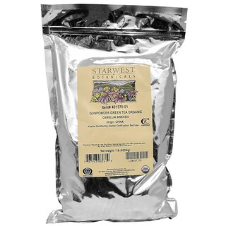 Starwest Botanicals, Organic Gunpowder Green Tea, 1 lb (453.6 g)