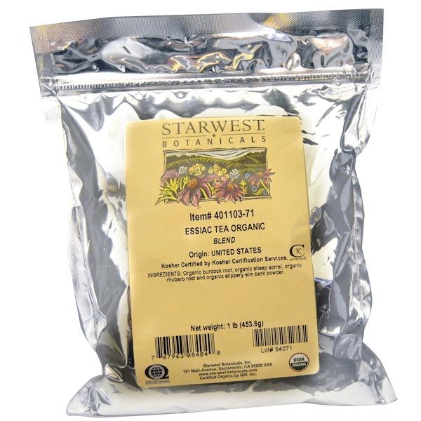 Starwest Botanicals, Essiac Tea Organic Blend, 1 lb (453.6 g) (Discontinued Item)