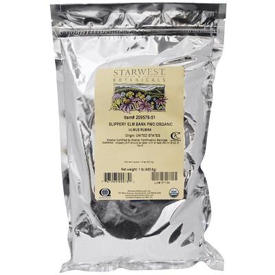 Starwest Botanicals Органический порошок коры вяза ржавого, 1 фунт (453,6 г)