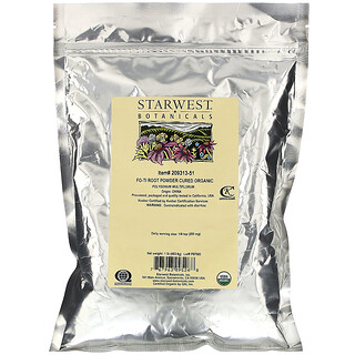 Starwest Botanicals, Organic, Fo-Ti Root Powder Cured , 1 lb (453.6 g)