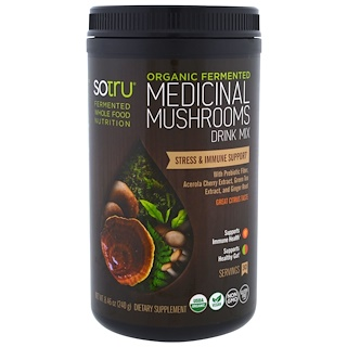 SoTru, Organic Fermented, Medicinal Mushrooms Drink Mix, Stress & Immune Support, 8.46 oz (240 g)