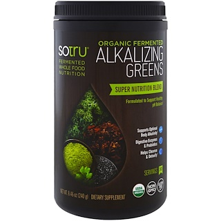 SoTru, Organic Fermented Alkalizing Greens , 8.46 oz (240 g)