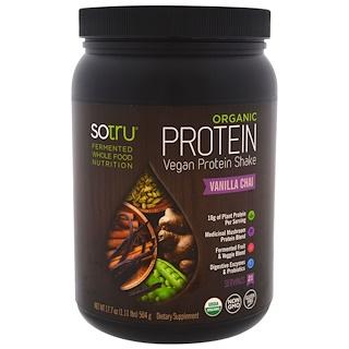 SoTru, Organic Vegan Protein Shake, Vanilla Chai, 17.7 oz (504 g)