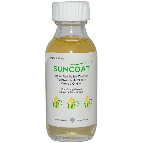 Suncoat, Natural Nail Polish Remover, 1 fl oz (30 ml) (Discontinued Item)