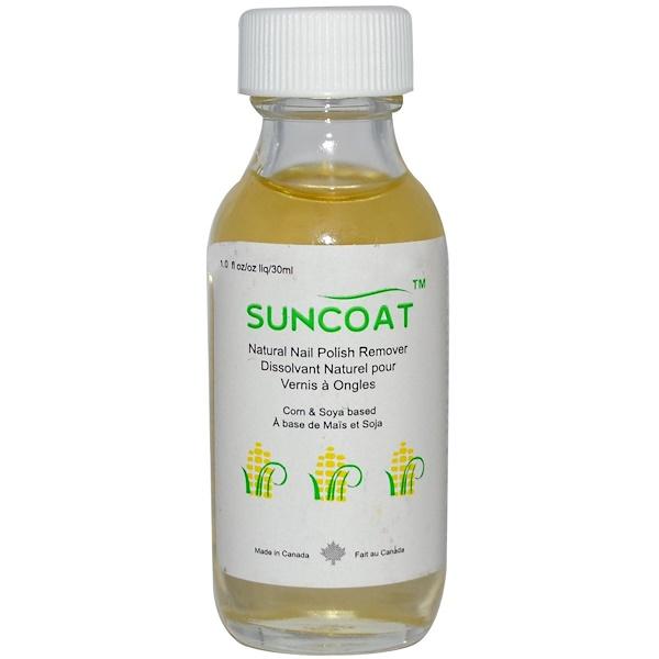 Suncoat, Natural Nail Polish Remover, 1 fl oz (30 ml) (Discontinued Item)