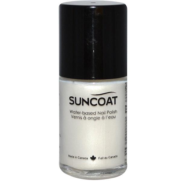 Suncoat, Water-Based Nail Polish, 01 Pearl White, 0.5 oz (15 ml) (Discontinued Item)