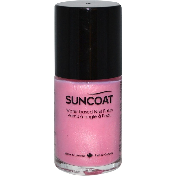 Suncoat, Water-Based Nail Polish, 10 Cotton Candy, 0.5 oz (15 ml) (Discontinued Item)