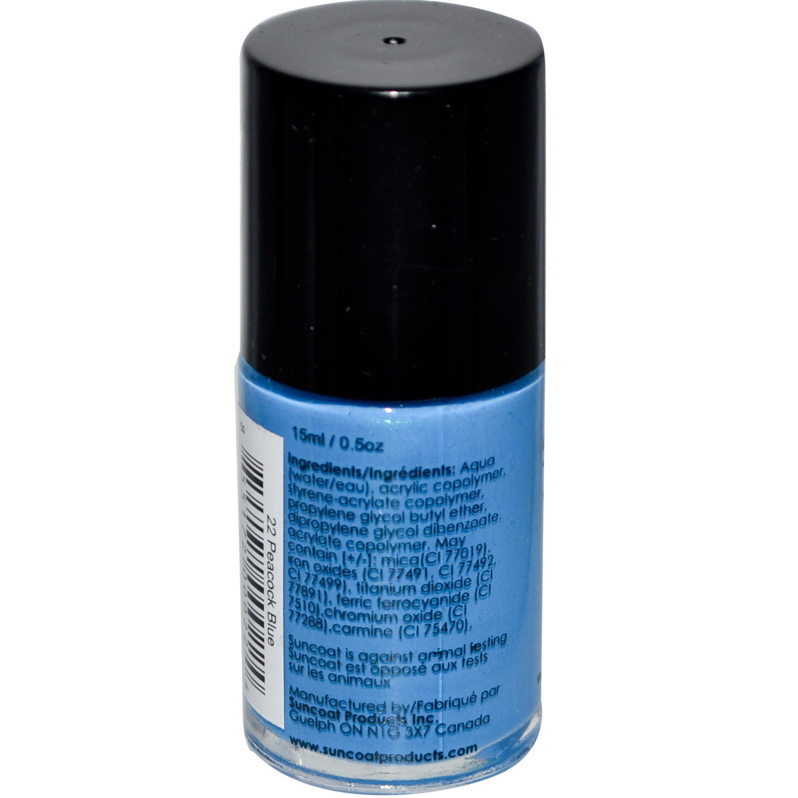 Suncoat Water Based Nail Polish 22 Peacock Blue 0 5 Oz 15 Ml Iherb Com