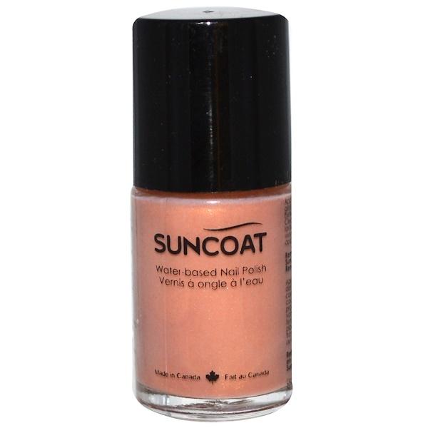 Suncoat, Лак для ногтей на основе воды,27, обнаженный миндаль 0.5 унции (15 мл) (Discontinued Item)