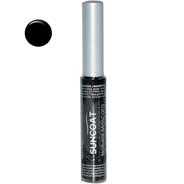 Suncoat, Natural Mascara, Black, 0.3 oz (10 ml) (Discontinued Item)