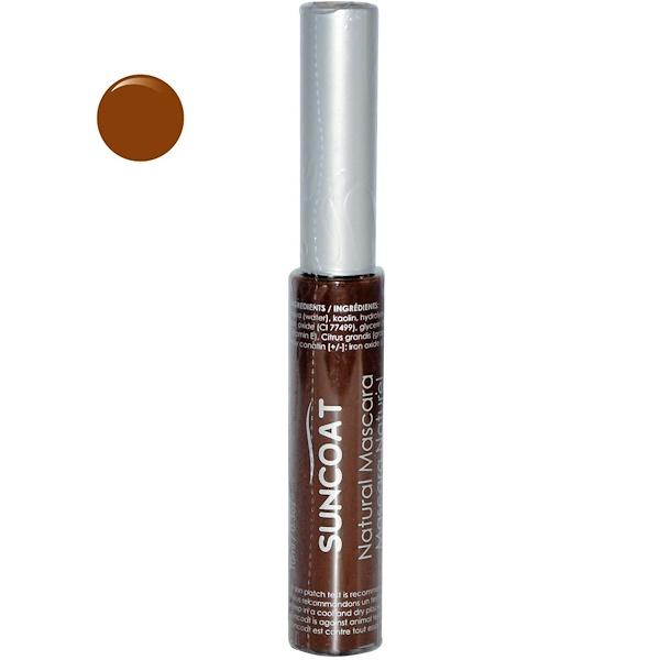 Suncoat, Natural Mascara, Brown, 0.3 oz (10 ml) (Discontinued Item)