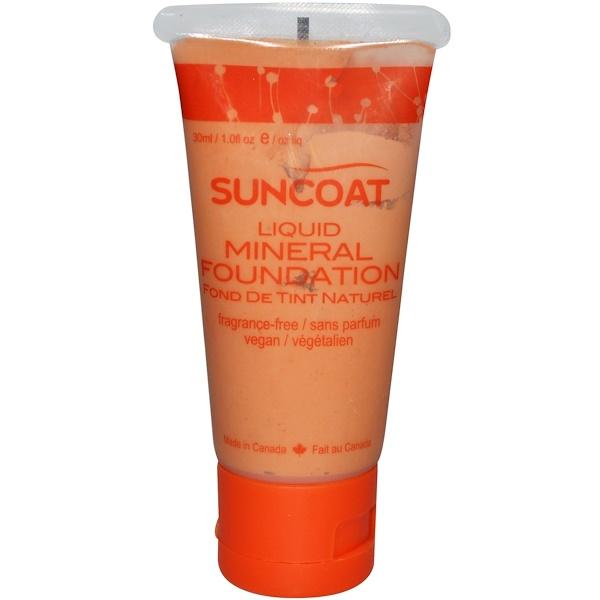 Suncoat, Жидкая минеральная основа, слоновая кость, без ароматов 1.0 жидких унции (30 мл) (Discontinued Item)
