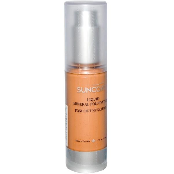 Suncoat, Liquid Mineral Foundation, Classic Tan, 1 fl oz (30 ml) (Discontinued Item)