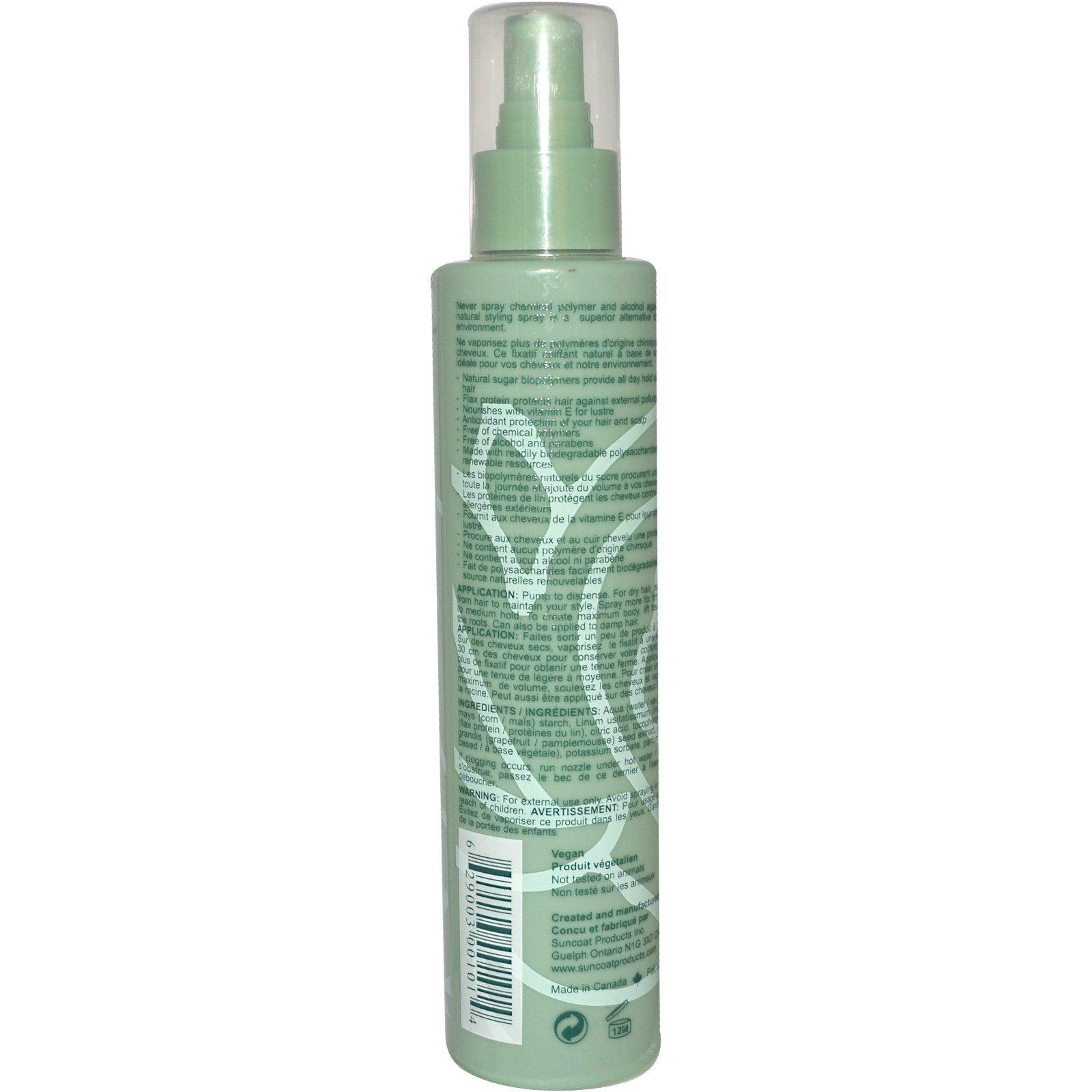 Suncoat, Природный спрей для укладки, средней силы, 7 жидк. унц. (210 мл)