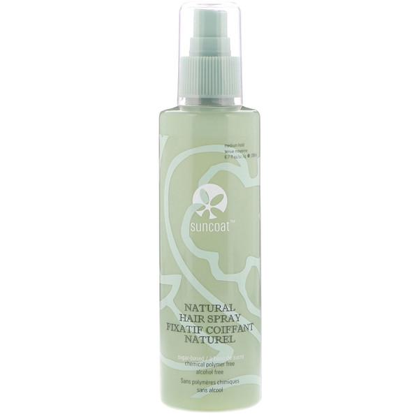 Suncoat, Natural Hair Spray, Medium Hold, 6.7 fl oz (200 ml) (Discontinued Item)