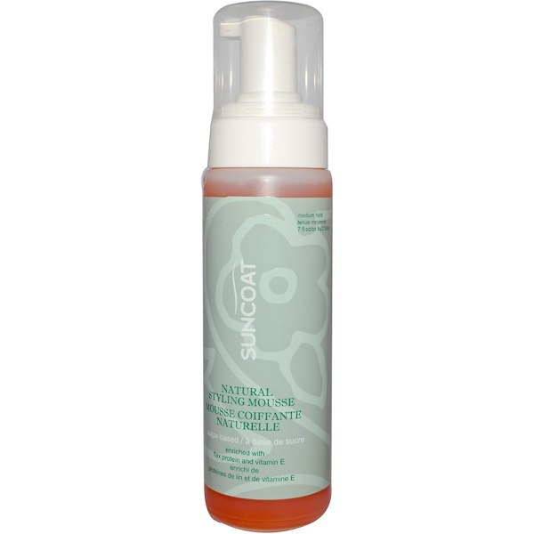Suncoat, Natural Styling Mousse, Medium Hold, 7 fl oz (210 ml) (Discontinued Item)