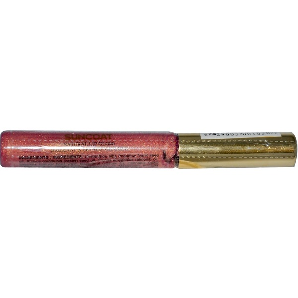 Suncoat, Natural Lip Gloss, Golden Peach, 7 ml (Discontinued Item)