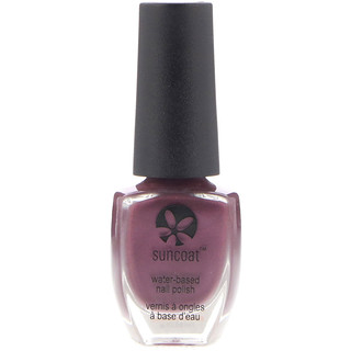 Suncoat, Polish & Peel, Water-Based Nail Polish, Mulberry, 0.27 oz (8 ml)