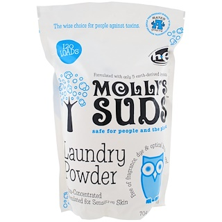 Molly's Suds, Стиральный Порошок, 120 Упаковок, 70,4 унций (1,99 кг)