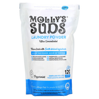 Molly's Suds, Laundry Powder, Ultra Concentrated, Peppermint, 80.25 oz (2.275 kg)