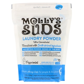 Molly's Suds, Laundry Powder, Ultra Concentrated, Peppermint, 47 oz (1.33 kg)