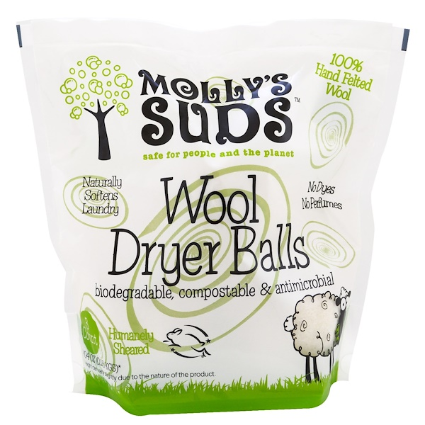 Molly's Suds, Wool Dryer Balls, 3 Balls