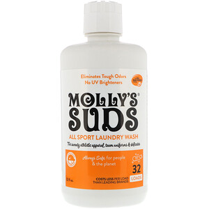 Моллис Садс, All Sport Laundry Wash, 32 fl oz (964.35 ml) отзывы покупателей