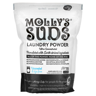 Molly's Suds, Laundry Powder, Ultra Concentrated, Unscented, 47 oz (1.33 kg)