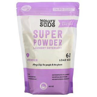 Molly's Suds, Super Powder Laundry Detergent, Lavender, 60 Loads, 60 oz