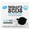 Molly's Suds, Bolas de lana para secadora, Para ropa oscura, 3bolas