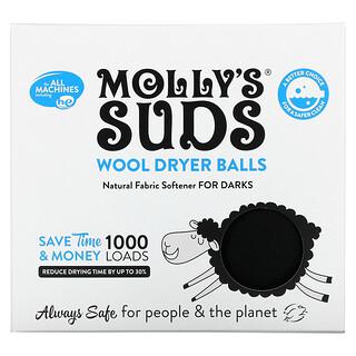 Molly's Suds, Wool Dryer Balls, For Darks, 3 Balls