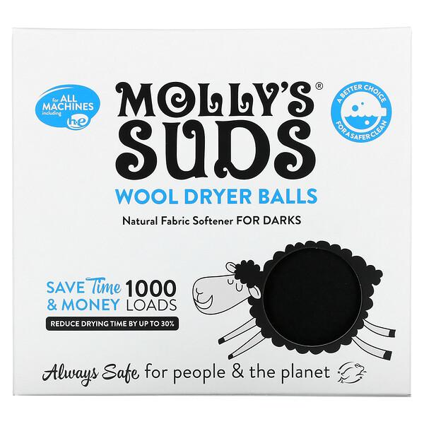 Molly's Suds, Wool Dryer Balls,  Set of 3, 1000 Loads