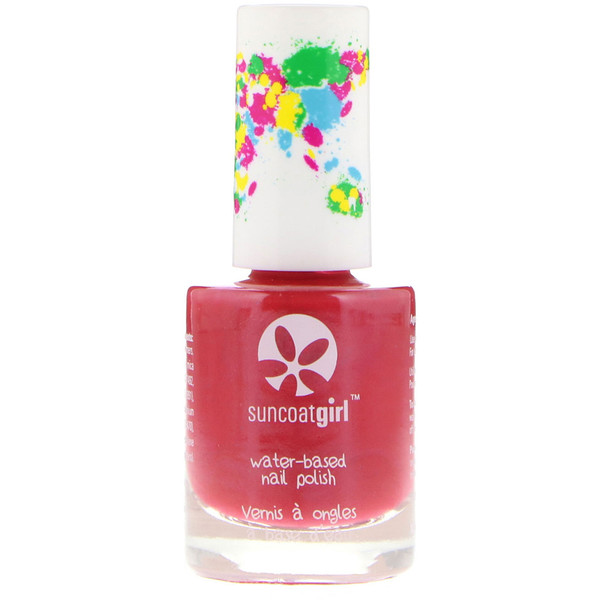 SuncoatGirl, Water-Based Nail Polish, Strawberry Delight, 0.3 oz (9 ml) (Discontinued Item)