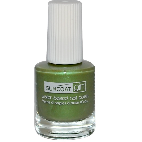 Suncoat Girl, Water-Based Nail Polish, Gorgeous Green, 0.27 oz (8 ml ...