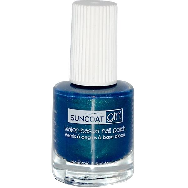 Suncoat Girl, Лак для ногтей на основе воды, голубая русалка 0.27 унции (8 мл) (Discontinued Item)
