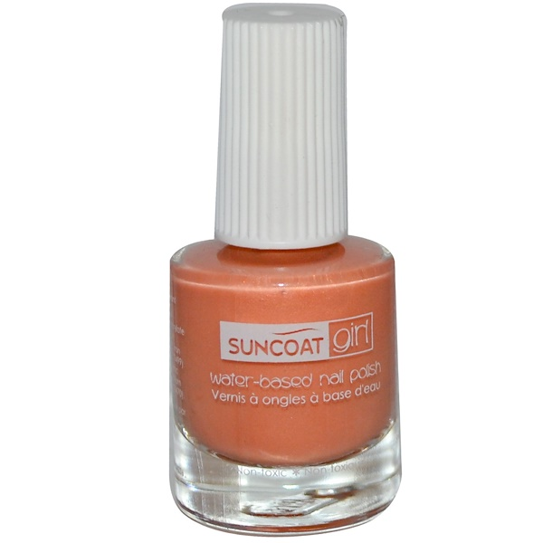 Suncoat Girl, Water-Based Nail Polish, Delicious Peach, 0.27 oz (8 ml) (Discontinued Item)