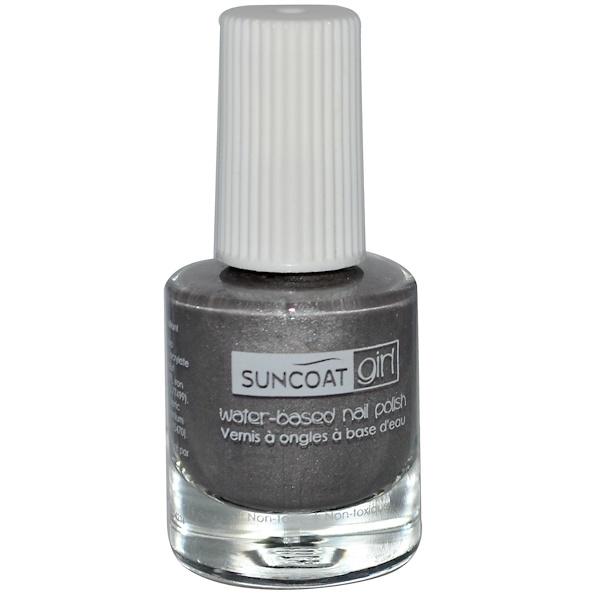 Suncoat Girl, Water-Based Nail Polish, Starlight Silver, 0.27 oz (8 ml) (Discontinued Item)