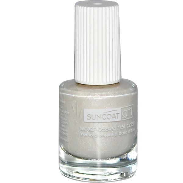 SuncoatGirl, Water-Based Nail Polish, Sparkling Snow, 0.27 oz (8 ml) (Discontinued Item)