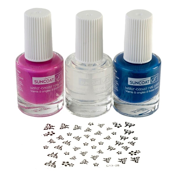 Suncoat Girl, Natural Nail Beauty Kit, Water-Based Nail Polishes, Mermaid Princess, 3 Piece Kit (Discontinued Item)