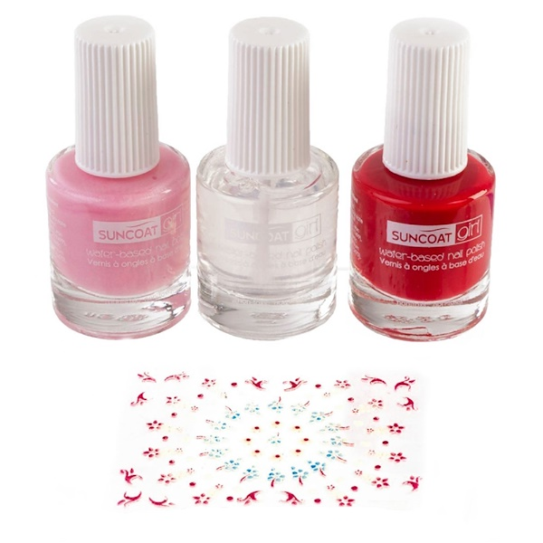 Suncoat Girl, Natural Nail Beauty Kit, Water-Based Nail Polishes, Ballerina Beauty, 3 Piece Kit (Discontinued Item)