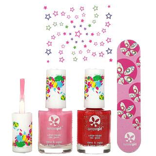 SuncoatGirl, Natural Nail Salon Kit, Little Valentine, 4 Piece Set