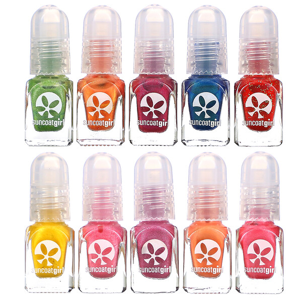Water-Based Nail Polish Kit, Party Palette, 10 Pieces