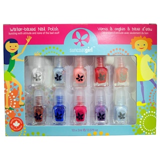 Suncoat Girl, Water-Based Nail Polish Kit, Flare & Fancy, 10 Pieces