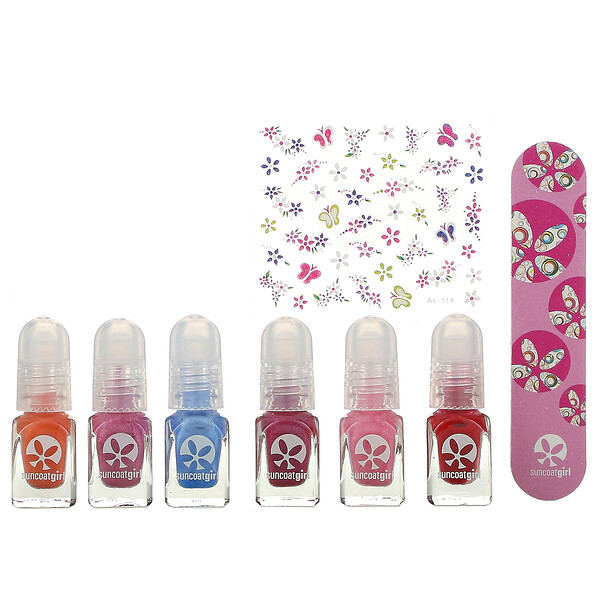 Water-Based Nail Polish Mini Mani Kit,  8 Pieces