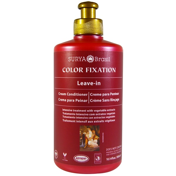 Surya Brasil, Color Fixation, Leave-In Cream Conditioner, 10.14 fl oz (300 ml) (Discontinued Item)