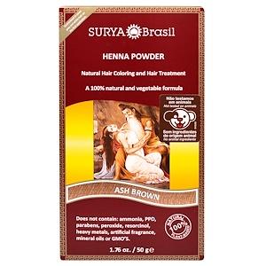 Сурия Хенна, Henna Powder, Natural Hair Coloring and Hair Treatment, Ash Brown, 1.76 oz (50 g) отзывы покупателей
