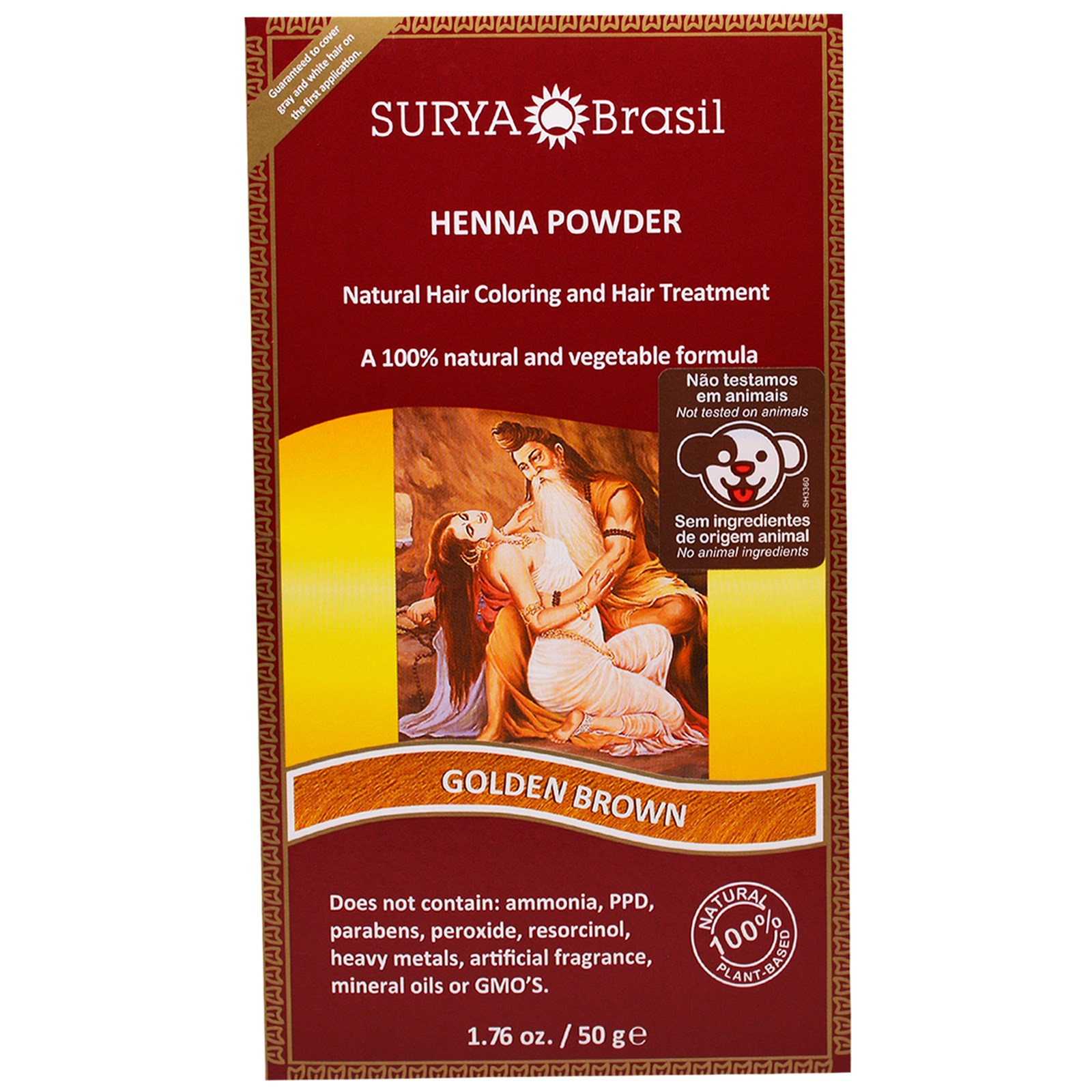 Surya Brasil Henna Powder Natural Hair Coloring And Hair Treatment