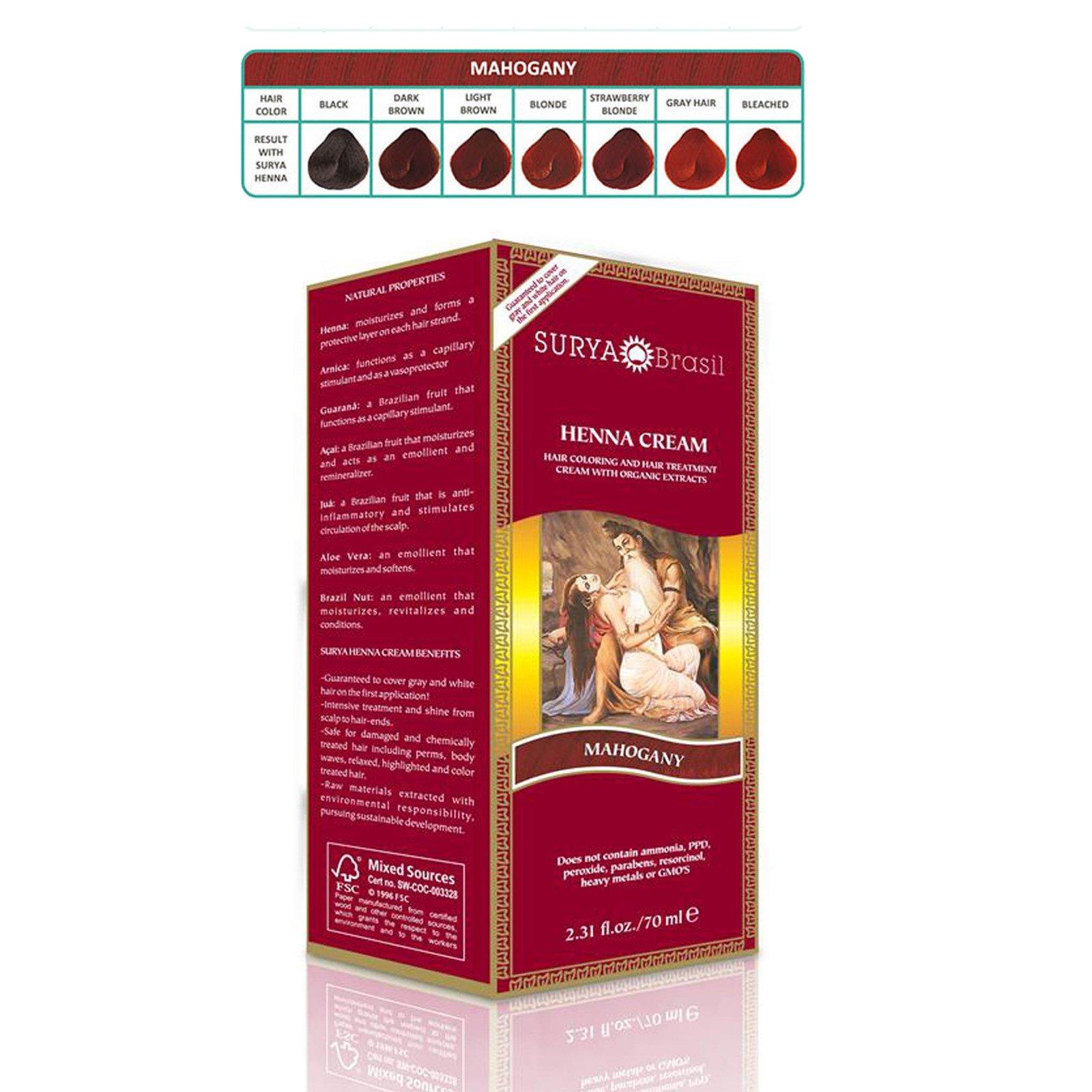 d557e7223c6b7 Surya Brasil, Brasil Cream, Hair Coloring & Hair Treatment, Mahogany, 2.31  fl oz (70 ml) (Discontinued Item)