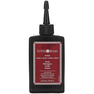 Surya Brasil, Henna Cream, Hair Color and Condition Treatment, Mahogany, 2.37 fl oz (70 ml)