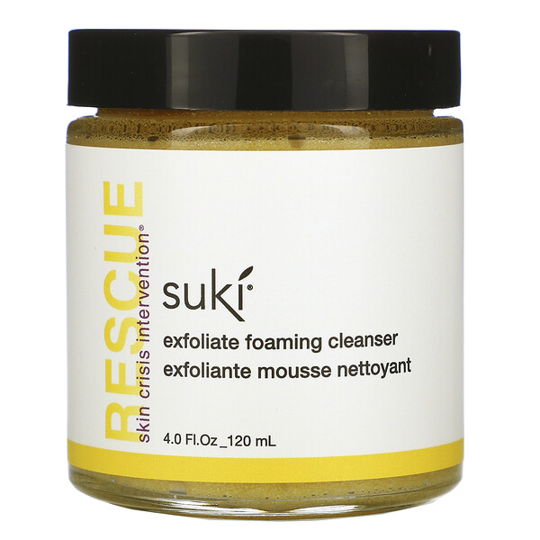 Suki, Rescue, Exfoliate Foaming Cleanser, 4.0 fl oz (120 ml)